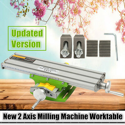 2017 Compound Work Table 2 Axis Cross Sliding Milling Machine Bench Drill Vise