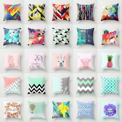 Polyester Yoga Retro animal pillow case cover sofa car cushion cover Home Decor