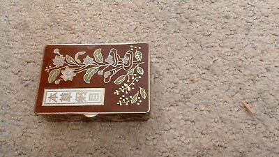 antique  Enameled snuff pill box perfect condition