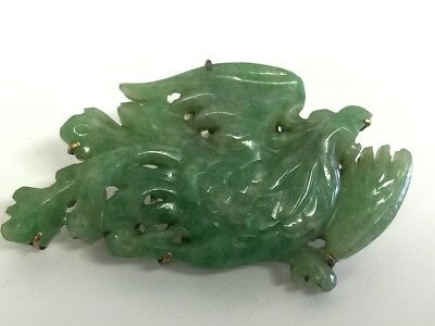 18h Chinese Nature  green jade   buckle  china   antique
