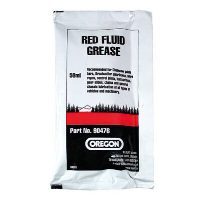 Brand New Oregon Chainsaw Red Fluid Grease Sachet 90476