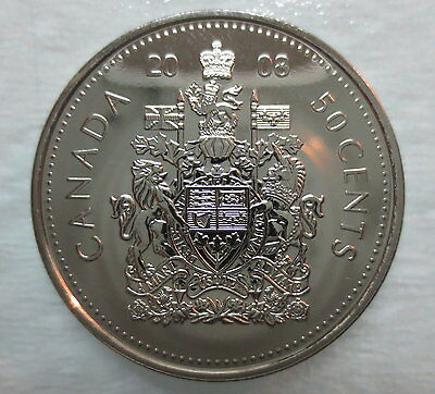2008 Canada 50 Cents Proof-Like Half Dollar Coin