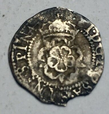 James 1st Hammered Silver Half Groat or Twopence (A295)