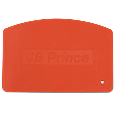 "JB Prince JB Prince Logo Orange Flexible Bowl Scraper 5.5"" x 3.75"""