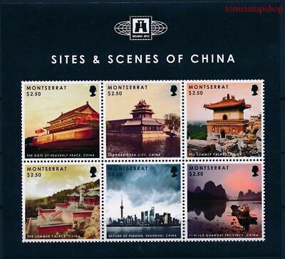 Montserrat 2012 China Views Pagoda/Building Palace Paintings Heritage m/s MNH