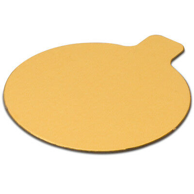 JB Prince Round Pastry Boards - 3-1/4 inch - Gold