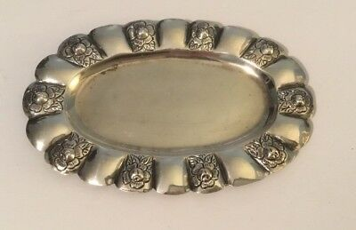 Vintage Rare Makers Mark Sanborns Mexico Sterling Silver Small Tray Sterling