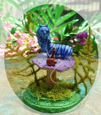 Alice in Wonderland Mushroom and base ONLY ~ for miniature Blue Caterpillar by S