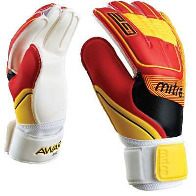 Mitre Awara Youth Matchday Ready Kids Cushioned Goalkeeping Keeper Gloves