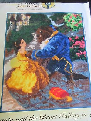 THOMAS KINKADE Disney's BEAUTY & THE BEAST Rug/Wall Hanging LATCH HOOKING KIT