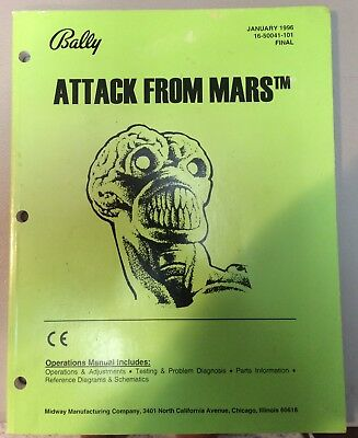 Bally Attack From Mars Operations Manual 16-50041-101