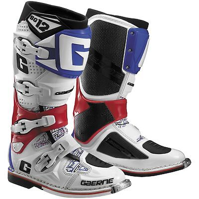Gaerne SG-12 MX Offroad Boots White/Red/Blue