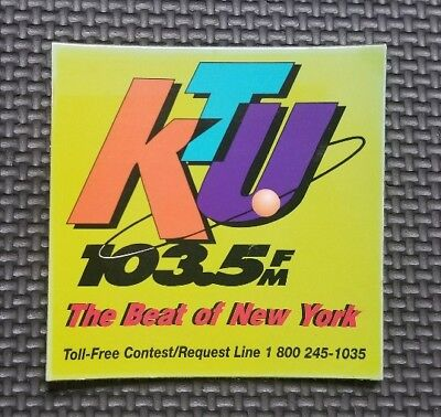 WKTU FM Radio Refrigerator Magnet Collectible The Beat of New York City Music