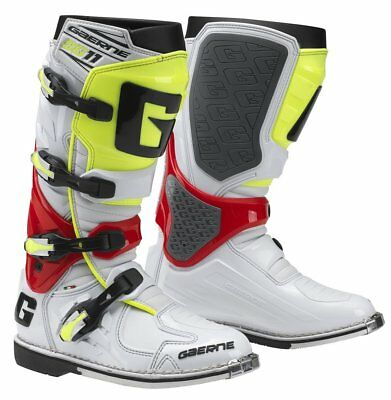 Gaerne SG-11 MX Offroad Boots White/Red/Yellow