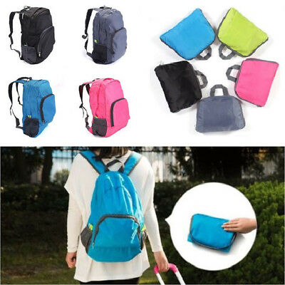 Packable Folding Backpack Shouder Bag Daypack Travel Hiking Sports Rucksack UK