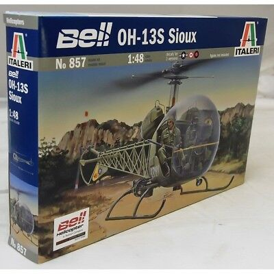 Italeri 1:48 857 BELL OH-13S SIOUX HELICOPTER Model Aircraft Kit