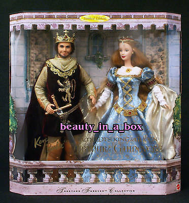 Camelot Barbie Doll King Arthur Ken Guinevere Together Forever Gift Set  EXC Box