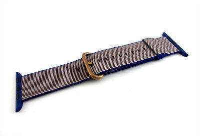 Genuine Apple Watch Woven Nylon Band (42mm, Royal Blue) MMA12AM/A - VG