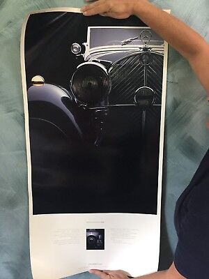 rare mercedes benz advertising poster of 1935 roadster