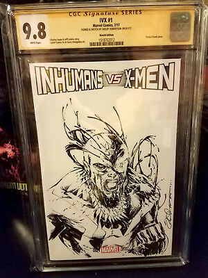 Inhumans VS XMEN 1 CGC 9.8 ORIGINAL Venomized BLACKBOLT SKETCH variant FREE SHIP