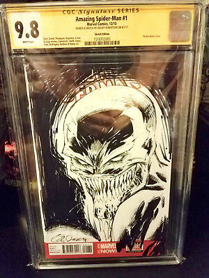 Amazing SPIDERMAN 1 CGC 9.8 ORIGINAL SMILEY VENOM SKETCH VARIANT FREE SHIP