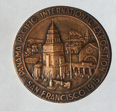 SAN FRANCISCO 1915 PANAMA PACIFIC EXPOSITION Large Bronze SWEDISH PAVILION Medal