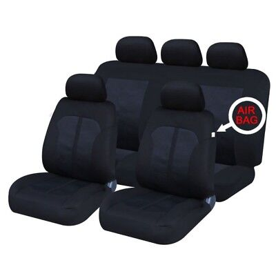 Renault Grand Scenic 09 On Front & Rear Car Full Set Seat Covers Cloth Black