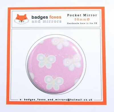 BUTTERFLY Compact/Makeup/Bag POCKET MIRROR Birthday/Christmas/Stocking/Filler