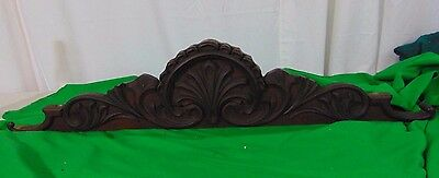 Architectural Salvage Mahogany Furniture Backsplash-Wall Hanging Crown Pediment