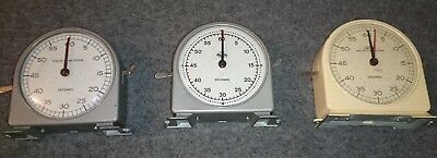 Smiths - English Clock Systems Seconds Timer (Model ST/2 ?)   Set of three.