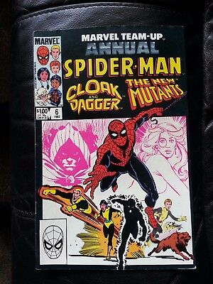 marvel team-up annual # 6 - Spider-man with Cloak and dagger , new mutants