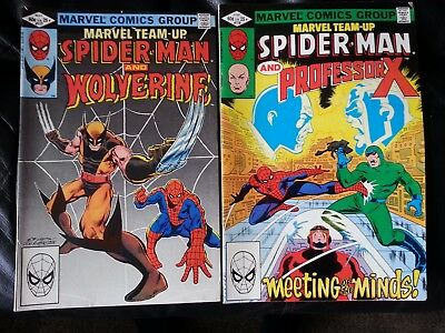 marvel team-up : spider-man with wolverine # 117 / with Prof. X # 118 (x-men)