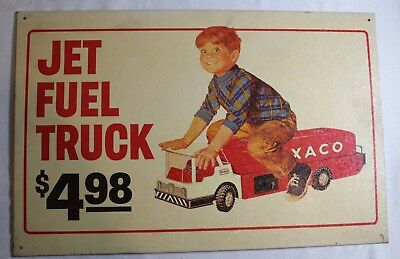 "Vintage 1998 Texaco Licensed Metal Sign ( Jet Fuel Truck $4.98 ) 15 5/8"" X 10"""