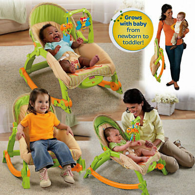Newborn Infant to Toddler Rocker Bouncer Seat Baby Chair Sleeper Swing Portable