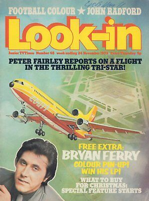LOOK IN MAGAZINE. ISSUE 48. 24th November 1973. Bryan Ferry Double Spread.