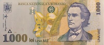 Romania 1,000 Lei P-106 bundle of 100 consecutive pcs UNC