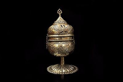 Antique Original Silver Ottoman Old Istanbul Made Amazing  Incense