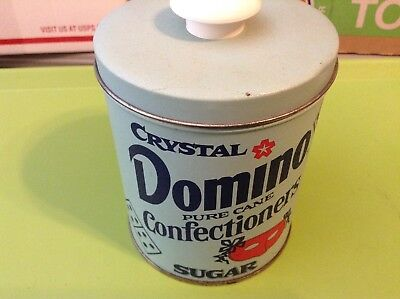 Viintage Old CRYSTAL DOMINO Confectioners PURE CANE SUGAR Tin Nice