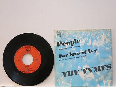 """The Tymes - People / For Love of Ivy 7"""" 1968 CBS Holland Picture Cover Near Mint"""