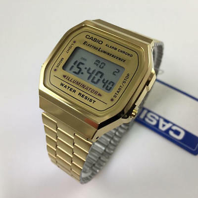 Men's Casio Gold Tone Classic Digital Watch A168WG-9V