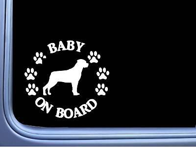 """Baby on Board Rottweiler L482 6"""" Sticker decal"""
