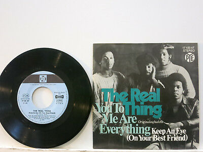 """The Real Thing - You to me are Everything / Keep an Eye 7"""" 1976 Pye D PicCvr NM"""
