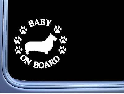 "Baby on Board Corgi L502 6"" Sticker dog decal"