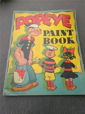 VINTAGE RARE SCARCE Popeye Paint-Book-Whitman 586 Dated  1919 - 1937