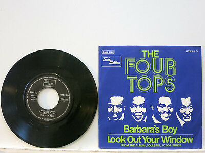"""The Four Tops - Barbara's Boy / Look out your Window 7"""" 1970 Motown D PicCvr NM"""