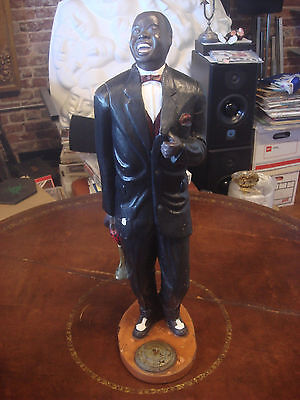 """Vintage 22"""" Tall Jazzy Louis Armstrong Trumpeter Statue"""