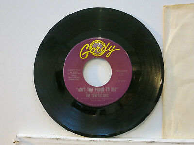 """The Temptations - Ain't too proud to beg / Precious Love 7"""" 1966 Gordy USA NMint"""