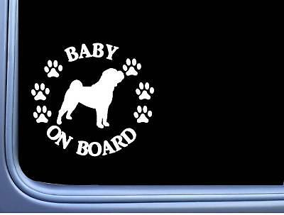 "Baby on Board Shar Pei L529 6"" Sticker dog decal"