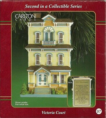 """Carlton Cards Heirloom Collection Ornament """"Victoria Court 1883 Queensgate"""" #97"""