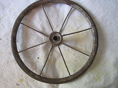 VINTAGE  CARRIAGE, BUGGY, GO CART WHEELS, REPURPOSE, HOBBY 8 inches
